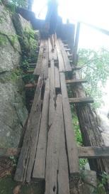 Zulunkhuni River wobbly bridge