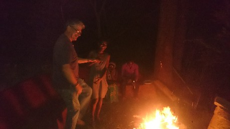 Fireside dance